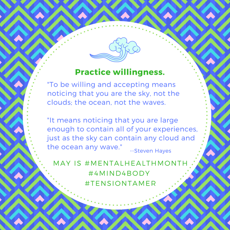 Practice Willingness Mental Health Month