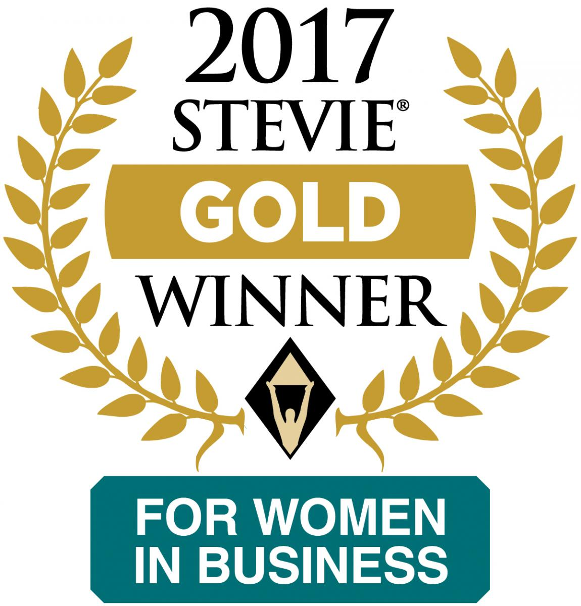 2017 Stevie Gold Winner for Women in Business